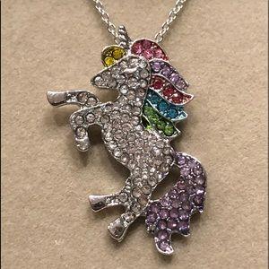 Jewelry - 👀2/$15👀•NEW fashion unicorn silver necklace